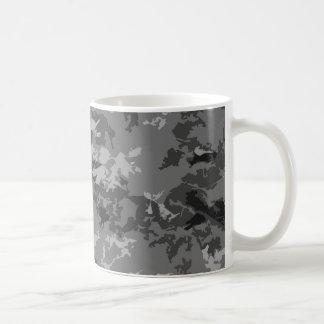 Gray Grey Camo Camouflage Design Pattern Basic White Mug