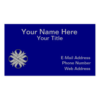 Gray / Grey Clover Ribbon Pack Of Standard Business Cards