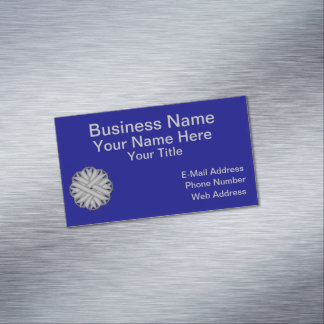Gray / Grey Flower Ribbon Magnetic Business Cards