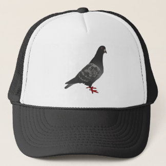 Gray/Grey Pigeon Trucker Hat
