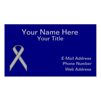 Gray / Grey Standard Ribbon Pack Of Standard Business Cards