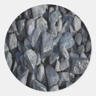 Gray-Grey stones by Khoncepts Round Sticker