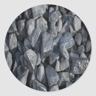 Gray-Grey stones by Khoncepts Round Stickers