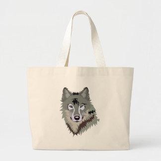 Gray Grey Wolf Bag