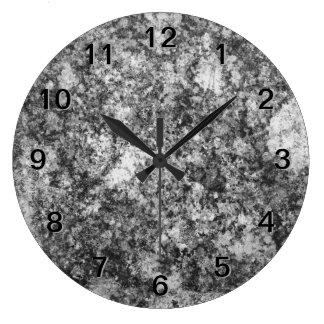 Gray Grungy Design Wallclocks