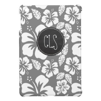 Gray Hawaiian Tropical Hibiscus; Retro Chalkboard Case For The iPad Mini