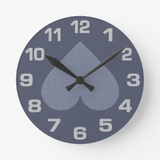 Gray Heart Anti-Valentine custom wall clocks