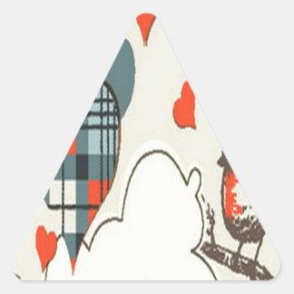 Gray heart design triangle sticker
