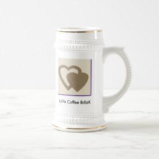 GRAY HEART, LoVe Coffee BrEaK Beer Steins