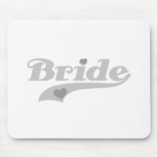 Gray Hearts Bride Mouse Pad