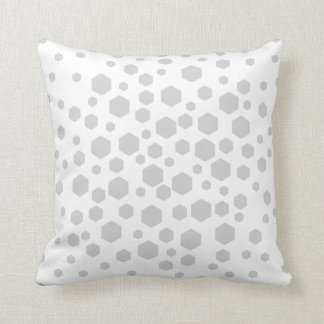 Gray Hexagons. Cushion