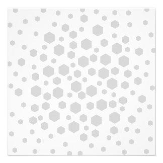 Gray Hexagons Custom Invitation