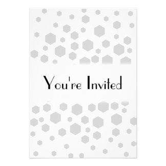 Gray Hexagons Invitation