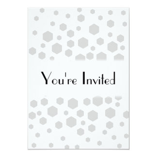 Gray Hexagons. 13 Cm X 18 Cm Invitation Card