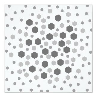 Gray Hexagons Pattern. Invitation