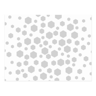 Gray Hexagons. Postcard