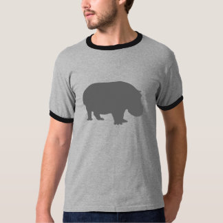 Gray Hippo Silhouette T-Shirt