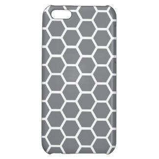 Gray Honeycomb Hexagon Case For iPhone 5C