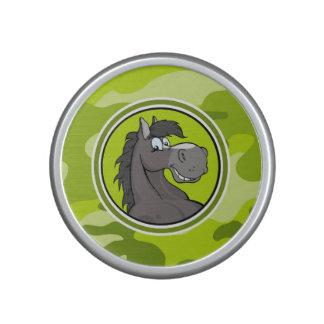 Gray Horse; bright green camo, camouflage Speaker