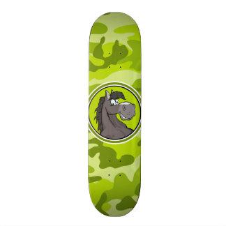 Gray Horse bright green camo camouflage Skateboard Decks