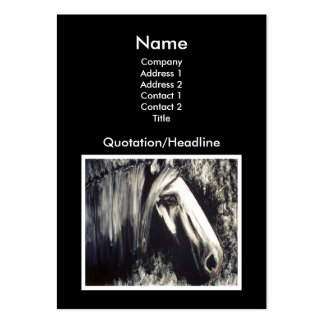 Gray Horse Pack Of Chubby Business Cards