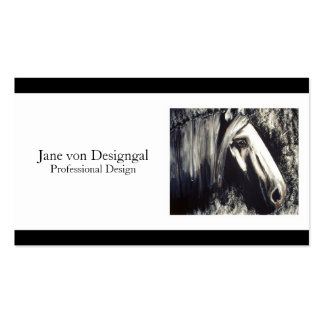 Gray Horse Pack Of Standard Business Cards