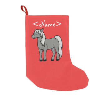 Gray Horse Small Christmas Stocking