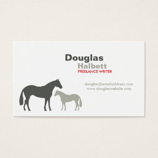 GRAY HORSES No. 2 Business Card