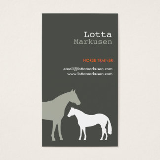 GRAY HORSES No. 3 Business Card