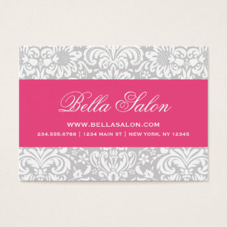 Gray & Hot Pink Elegant Floral Damask