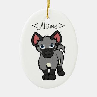 Gray Hyena Cub Christmas Ornament