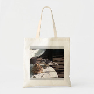 Gray Jay and Bell Budget Tote Bag