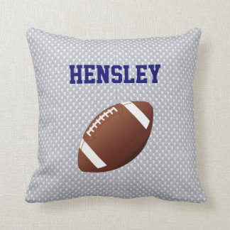Gray Jersey Football Throw Pillow