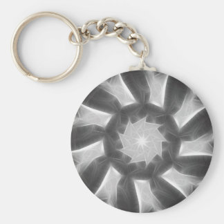 Gray Kaleidoscope Art 7 Key Ring