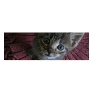 Gray Kitten Bookmark Business Cards