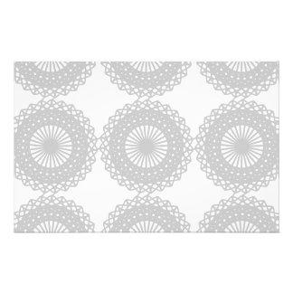 Gray Lace Design Pattern. 14 Cm X 21.5 Cm Flyer