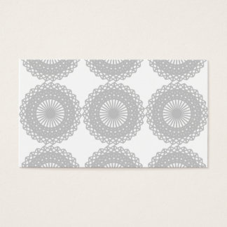Gray Lace Design Pattern. Business Card