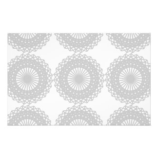 Gray Lace Design Pattern. Flyer