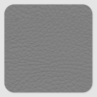 Gray Leather Texture Square Sticker