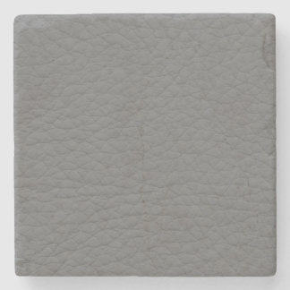 Gray Leather Texture Stone Coaster