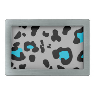 Gray Leopard Print Belt Buckle