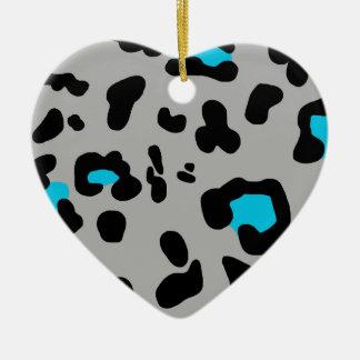 Gray Leopard Print Christmas Ornament