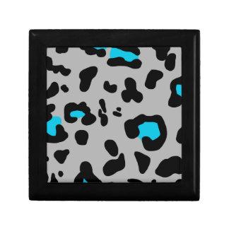 Gray Leopard Print Gift Box