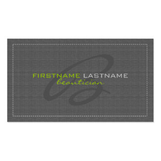 Gray Linen Burlap Texture Beautician Card Pack Of Standard Business Cards
