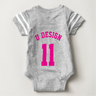 Gray & Magenta Baby | Sports Jersey Design Shirt