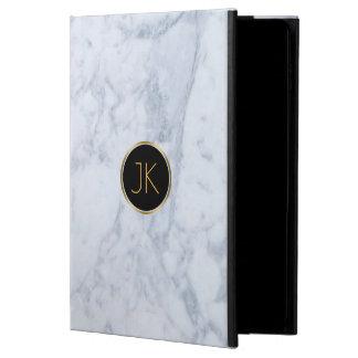 Gray Marble Custom Monogram Powis iPad Air 2 Case
