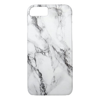 Gray Marble Stone Black Crack iPhone 8/7 Case