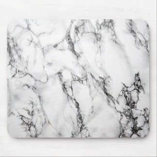Gray Marble Stone Black Grain Mouse Mat