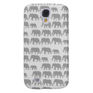 Gray Marching Elephant Family Galaxy S4 Case