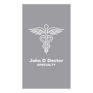 Gray medical doctor or healthcare business card